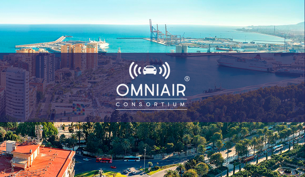 Omniair premier testing event connected vehicles Malaga